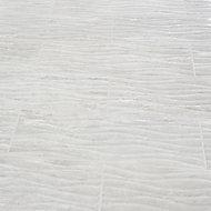Soft travertin Light grey Gloss 3D decor Stone effect Ceramic Wall Tile, Pack of 9, (L)600mm (W)200mm