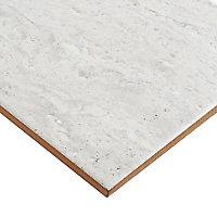 Soft travertin Light grey Matt Stone effect Ceramic Wall Tile, Pack of 9, (L)600mm (W)200mm