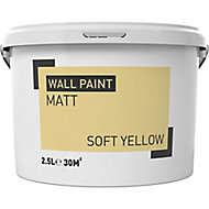 Soft yellow Matt Emulsion paint 2.5L