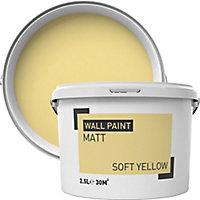 Soft yellow Matt Emulsion paint, 2.5L