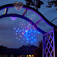 Solar Black Starburst Solar-powered LED Outdoor Hanging light