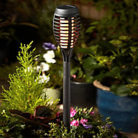 Solar Black Torch Solar-powered LED Outdoor Stake light