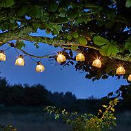 Solar Boule Solar-powered Warm white 10 LED Outdoor String lights