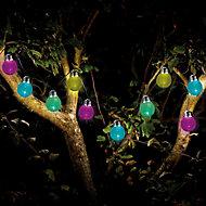 Solar Crackle globe Solar-powered Multicolour 10 LED Outdoor String lights