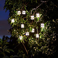 Solar Firefly jar Solar-powered Warm white 10 LED Outdoor String lights