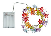 Solar Flower Solar-powered Multicolour 30 LED Outdoor String lights