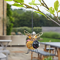 Solar Gold effect Bumble bee Solar-powered LED Outdoor Decorative light
