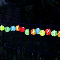 Solar Paper lantern Solar-powered Warm white 10 LED Outdoor String lights