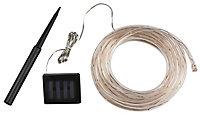 Solar Rope design Solar-powered Warm white 100 LED Outdoor String lights