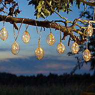 Solar Spiral Solar-powered Warm white 10 LED Outdoor String lights