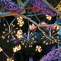 Solar Starburst Solar-powered Warm white 10 LED Outdoor String lights