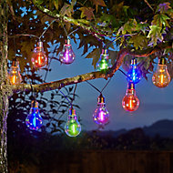 Solar Vintage Solar-powered Multicolour 10 LED Outdoor String lights