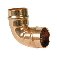 Solder ring 90° Pipe elbow (Dia)15mm, Pack of 2