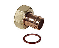 """Solder ring Tap connector 15mm x 0.51"""", Pack of 2"""