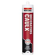 Soudal White Flexible Decorators caulk 380ml