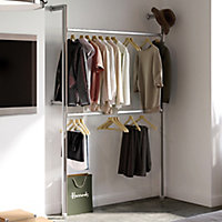 Spacepro Relax Satin silver effect Internal Storage solution (H)2280mm (L)1220mm (D)250mm