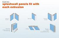Splashwall Black Panel end cap, (L)2420mm