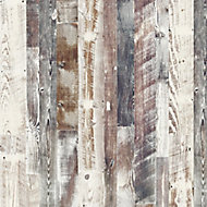 Splashwall Elite Matt Antique limed Pine 1 sided Shower Wall panel kit (L)2420mm (W)1200mm (T)11mm