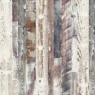 Splashwall Elite Matt Antique limed Pine 2 sided Shower Wall panel kit (L)2420mm (W)1200mm (T)11mm