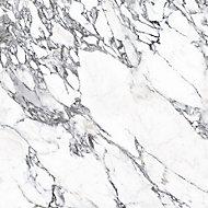 Splashwall Elite Matt Medium-density fibreboard (MDF) & vinyl Grey & white Left or right-handed Rectangular Bath panel (W)1200mm