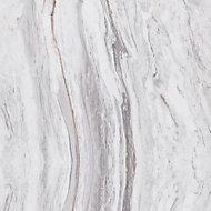 Splashwall Elite Matt Medium-density fibreboard (MDF) & vinyl Grey & white Left or right-handed Rectangular Bath panel (W)600mm