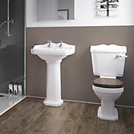 Splashwall Gloss Coffee Tile effect Shower Panel (H)2420mm (T)3mm