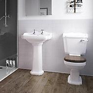 Splashwall Gloss Cream Tile effect 2 sided Shower Panel kit (L)1200mm (W)2420mm (T)3mm