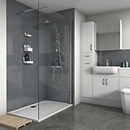 Splashwall Gloss Flint 2 sided Shower Panel kit (L)1200mm (W)1200mm (T)4mm