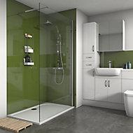 Splashwall Gloss Forest 2 sided Shower Panel kit (L)1200mm (W)1200mm (T)4mm