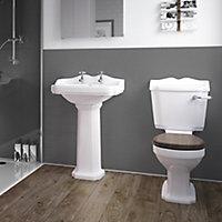 Splashwall Gloss Grey Tile effect Shower Panel (H)2420mm (T)3mm