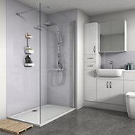 Splashwall Gloss Lavender 2 sided Shower Panel kit (L)1200mm (W)1200mm (T)4mm