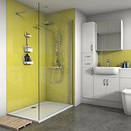 Splashwall Gloss Lemon 2 sided Shower Panel kit (L)1200mm (W)1200mm (T)4mm