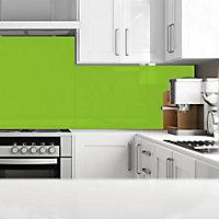Splashwall Gloss Lime Acrylic Splashback, (H)1220mm (W)2440mm (T)4mm