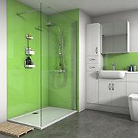 Splashwall Gloss Lime Shower Panel (H)2420mm (W)900mm (T)4mm