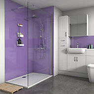 Splashwall Gloss Metallic purple Shower Panel (H)2420mm (W)600mm (T)4mm