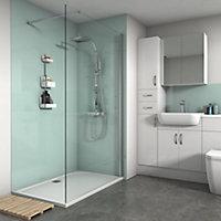 Splashwall Gloss Mist 2 sided Shower Panel kit (L)1200mm (W)1200mm (T)4mm