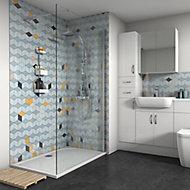 Splashwall Gloss Multicolour Panel (H)2420mm (W)1200mm (T)4mm