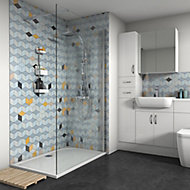 Splashwall Gloss Multicolour Shower Panel (H)2420mm (W)1200mm (T)4mm