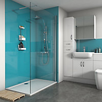 Splashwall Gloss Ocean 3 sided Shower Panel kit (L)1200mm (W)1200mm (T)4mm