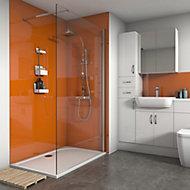Splashwall Gloss Pumpkin 2 sided Shower Panel kit (L)1200mm (W)1200mm (T)4mm