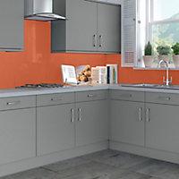 Splashwall Gloss Pumpkin Shower Panel (H)2440mm (W)1200mm (T)4mm