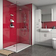 Splashwall Gloss Rose 3 sided Shower Panel kit (L)1200mm (W)1200mm (T)4mm