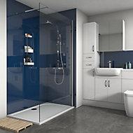 Splashwall Gloss Royal blue 2 sided Shower Panel kit (L)1200mm (W)1200mm (T)4mm