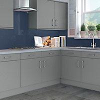 Splashwall Gloss Royal blue Shower Panel (H)2440mm (W)1200mm (T)4mm