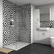 Splashwall Gloss Shower Panel (H)2420mm (W)1200mm (T)4mm