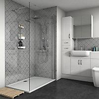Splashwall Gloss Shower Panel (W)1200mm (T)4mm
