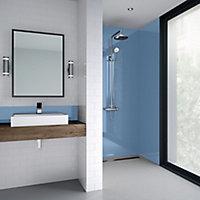 Splashwall Gloss Skye Shower Panel (H)2440mm (W)900mm (T)4mm
