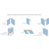 Splashwall Majestic Gloss Star dust 3 sided Shower Panel kit (L)2420mm (W)1200mm (T)11mm