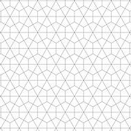 Splashwall Matt Black & white Geometric MDF Splashback, (H)1220mm (W)2440mm (T)10mm