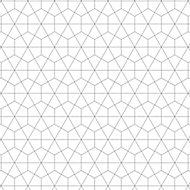 Splashwall Matt Black & white Geometric MDF Splashback, (H)600mm (W)2440mm (T)10mm
